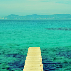 boardwalk in Formentera, Balearic Islands