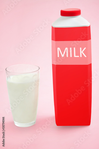 Glass with milk
