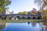 Fototapety Old Town Bridge during Autumn Bradford on Avon, United Kingdom