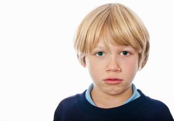 Grumpy schoolboy