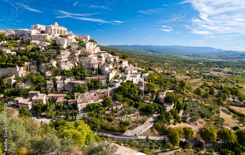 canvas print picture Gordes the beautiful village from provence