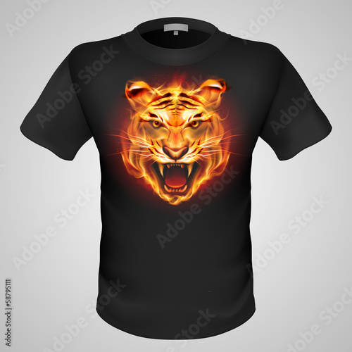 Male t-shirt with print.