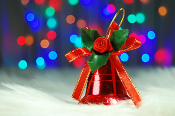 Christmas red jingle bell