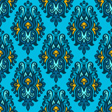 Damask seamless vector patterngift wrap