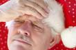 Santa has a bad headache