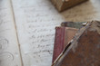 old books with 18th century handwriting