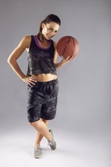 Young woman basketball player