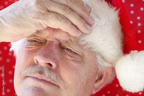Santa has a bad headache