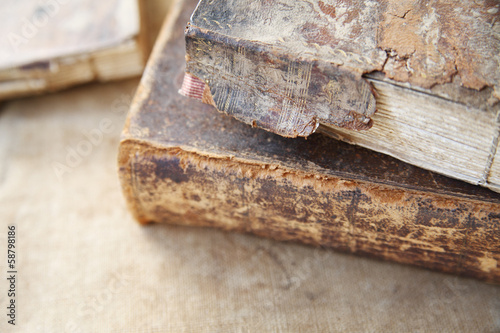 vintage books with heavy damage