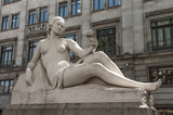 Statue of a naked Woman nearby of Placa de Catalunya in Barce poster