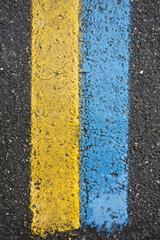 strisce giallo blu