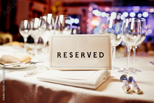 Reserved sign - 58798975
