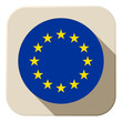 Europe Flag Button Icon Modern