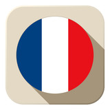 France Flag Button Icon Modern