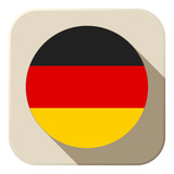 Germany Flag Button Icon Modern
