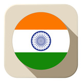 India Flag Button Icon Modern
