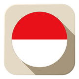 Monaco Flag Button Icon Modern