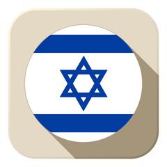 Israel Flag Button Icon Modern