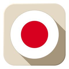 Japan Flag Button Icon Modern