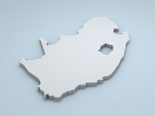 South Africa 3D map
