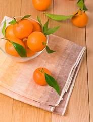 tangerines on table
