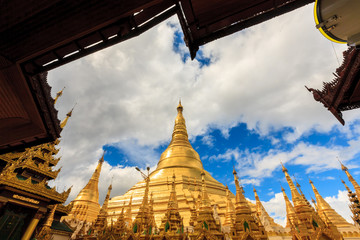 Shwedagon Pagoda in Yangon City, Burma