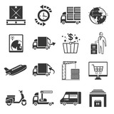 shipping icon set