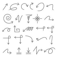 sketched arrows set