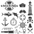 marine icons set, sea icons