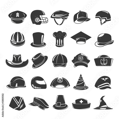 hat icons set