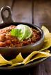 Closeup of a bowl of fresh salsa.