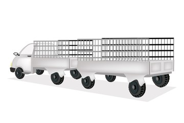A Cargo Truck with General Goods Trailer