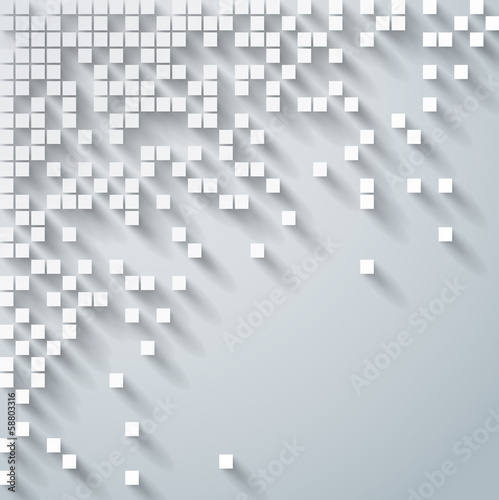 Gray geometric background.