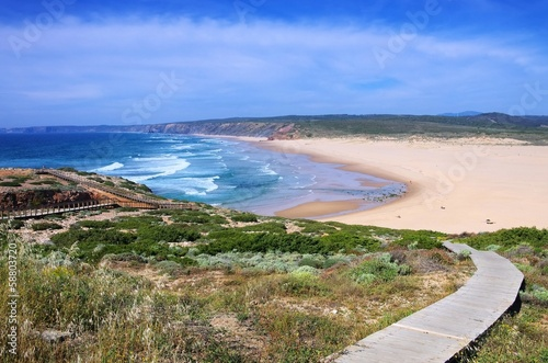 canvas print picture Atlantik Strand Carrapateira  01
