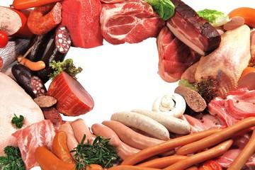 Fleisch- und Wurstwaren mit Textfreiraum