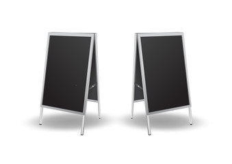 Blank black sandwich board