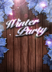 Winter party invitation background