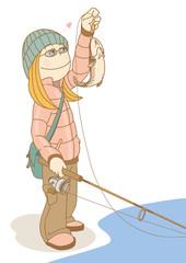 FishingGirl_Trout