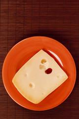 Ceramic dish with cheese