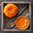 Pumpkin soup and raw pumpkin