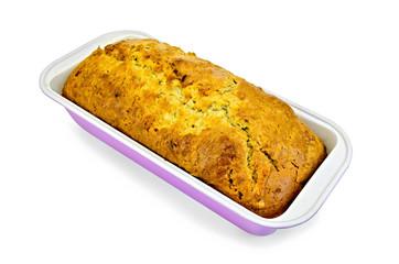 Fruitcake in a rectangular shape