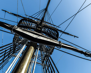 Detail of the topsail