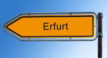 Strassenschild 7 - Erfurt