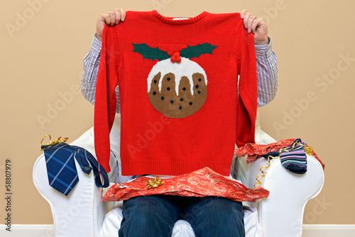 Leinwandbild Motiv Man - Look what I got for Christmas
