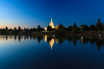 Mormon Temple at Idaho Falls