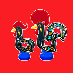 Galo and Galinha de Barcelos - Portugal symbols