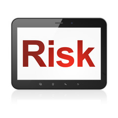 Business concept: Risk on tablet pc computer