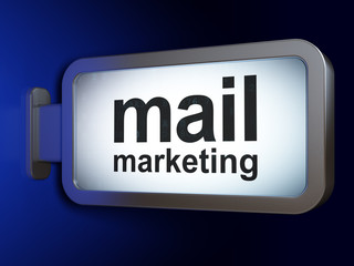 Marketing concept: Mail Marketing on billboard background