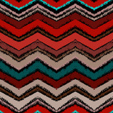 Hand drawn zigzag pattern in dark colors.