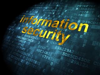 Safety concept: Information Security on digital background